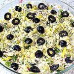 Салат из редиски с печенкой