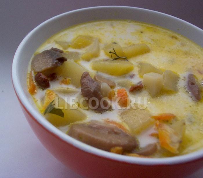 Суп картофельный с тмином.