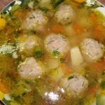 Мясной суп с галушками