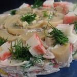 Салат из крабовых палочек с творогом