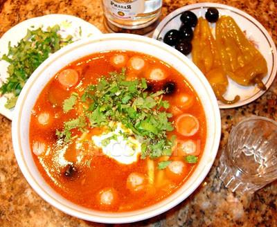 Овощной суп с помидорами