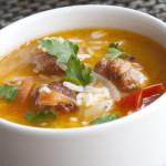 Рыбный суп с овощами и рисом