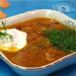 Суп крестьянский на курином бульоне
