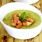Холодный фруктовый суп с креветками