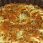 Кабачковая запеканка с зеленым луком