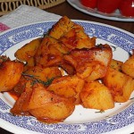 Картофель в ананасовом соусе