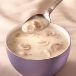 Молочный суп с картофелем и грибами