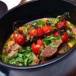 Баранина, жаренная с овощами