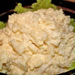 Салат мясной с яйцом и сыром