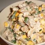 Салат с кукурузой и мясом