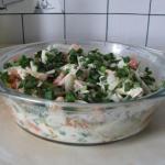 Салат со свининой и томатами