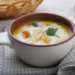 Сырный суп на индюшином бульоне