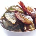 Стир-фрай с креветками, васаби и кокосовыми сливками