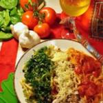 Лингвини «Вива Италия» с соусами трeх цветов