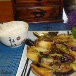 Шиитаке с овощами