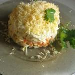 Салат «Слоеные шампиньоны»