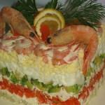 Салат креветочный «ТЕТ-А-ТЕТ»